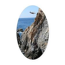 La Quebrada Cliff Divers Oval Car Magnet