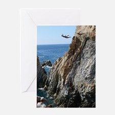 La Quebrada Cliff Divers Greeting Card