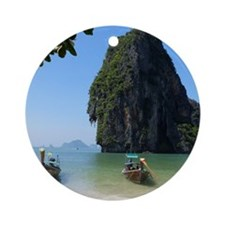 Krabi beach Round Ornament