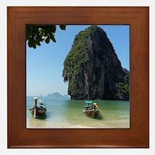 Krabi beach Framed Tile
