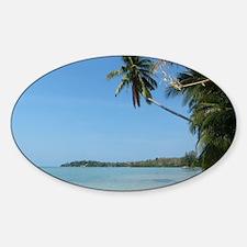 Koh Samui beach Sticker (Oval)