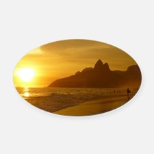 Ipanema beach Oval Car Magnet