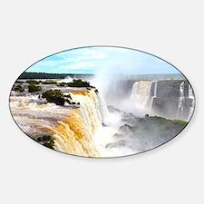 Iguazu Falls Sticker (Oval)