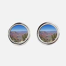 Grand Canyon Round Cufflinks