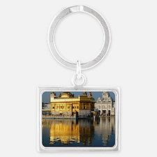 Golden Temple Landscape Keychain
