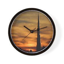 Dubai skyscrapers Wall Clock