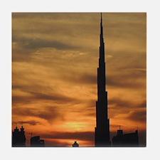 Dubai skyscrapers Tile Coaster