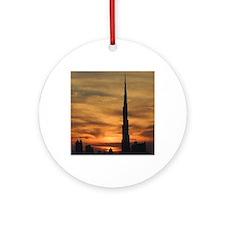 Dubai skyscrapers Round Ornament