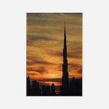 Dubai skyscrapers Rectangle Magnet