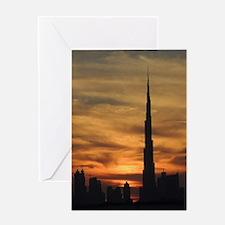 Dubai skyscrapers Greeting Card