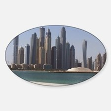 Dubai skyline Sticker (Oval)
