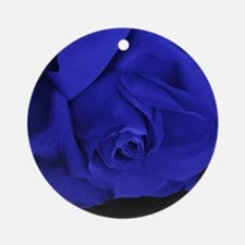 Blue Roses Round Ornament