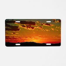 Arizona sunset Aluminum License Plate