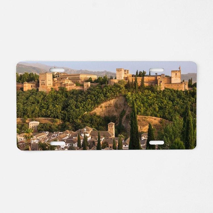 Alhambra palace Aluminum License Plate