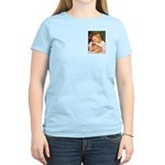GIRL HOLDING CAT Women's Light T-Shirt