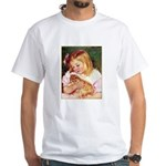 GIRL HOLDING CAT White T-Shirt