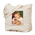 GIRL HOLDING CAT Tote Bag