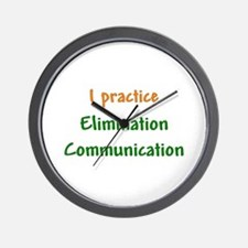 I Practice Elimination Communication Wall Clock