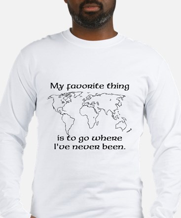Cute World travel Long Sleeve T-Shirt