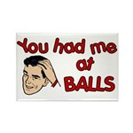 You Had Me at Balls Rectangle Magnet (10 pack)