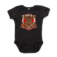 Cute Us army engineer Baby Bodysuit