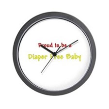 Proud To Be A Diaper Free Baby Wall Clock