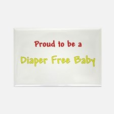 Proud To Be A Diaper Free Baby Rectangle Magnet