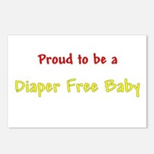 Proud To Be A Diaper Free Baby Postcards (Package