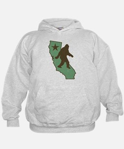 California Bigfoot (vintage distressed look) Hoodi