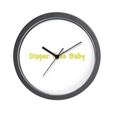 Diaper Free Baby Wall Clock