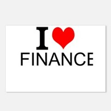 I Love Finance Postcards (Package of 8)
