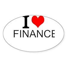 I Love Finance Decal