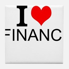 I Love Finance Tile Coaster