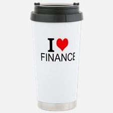 I Love Finance Travel Mug