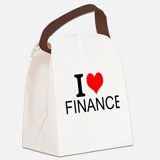 I Love Finance Canvas Lunch Bag