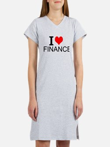 I Love Finance Women's Nightshirt