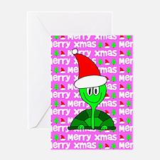 Christmas Tortoise Greeting Card