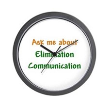 Ask Me About Elimination Communication Wall Clock