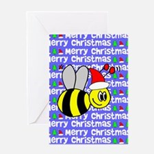Christmas Bumble Bee Greeting Card