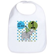 Elephant 1st Birthday Bib