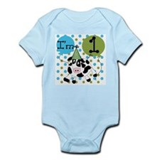 Cow 1st Birthday Infant Bodysuit