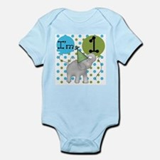 Elephant 1st Birthday Onesie