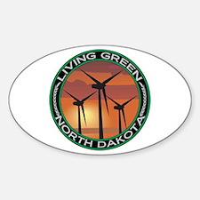 Living Green North Dakota Wind Power Decal