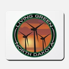 Living Green North Dakota Wind Power Mousepad