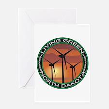 Living Green North Dakota Wind Power Greeting Card