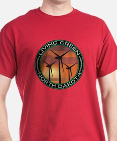 Living Green North Dakota Wind Power T-Shirt