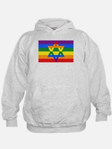 Rainbow Star of David Hoodie