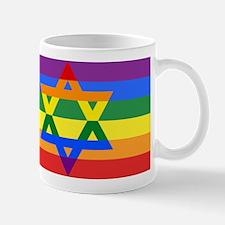 Rainbow Star of David Mugs