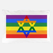 Rainbow Star of David Pillow Case
