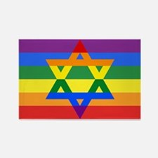 Rainbow Star of David Magnets